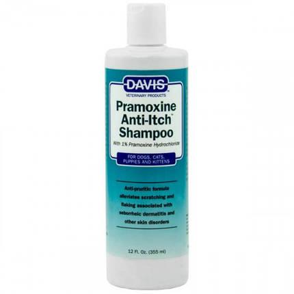 Шампунь Davis Pramoxine Anti-Itch Shampoo від сверблячки з 1% прамоксина гідрохлоридом, для собак і котів, 355 мл, фото 2