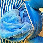 Плед мягкая игрушка 3 в 1  Котик голубой  (27), фото 2