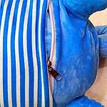 Плед мягкая игрушка 3 в 1  Котик голубой  (27), фото 3