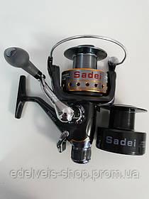 Катушка рыболовная карповая Sadei J3FR-60 С БАЙТРАНЕРОМ 8+1 подшипников