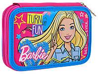 Пенал школьный 1 Вересня Барби  для девочки 2 отдела на молнии без наполнения YES 532111