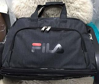 Мужская спортивная дорожная сумка с двойным дном