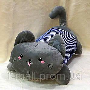 Плед мягкая игрушка 3 в 1  Котик серый  (28)