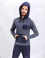 Комплект мужской д/с (футболка длинный рукав с капюшоном +штаны) ARNETTA
