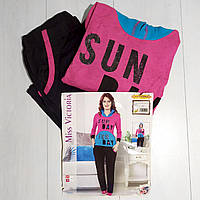 Комплект женской домашней одежды, с капюшоном (кофта длинный рукав+штаны), ПАК/2шт., (S/M,L/XL) Mis. Victoria