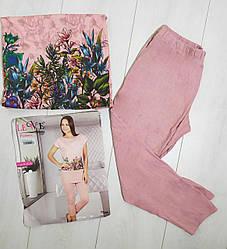 Комплект летний женской домашней одежды,  (туника короткий рукав+капри),Lewe (размер S-M)
