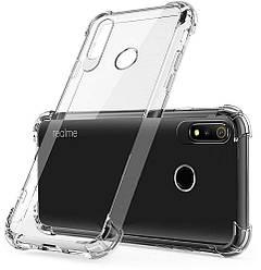 Прозрачный чехол Realme 3 (усиленный углами) Ultra Air (Реалми 3)