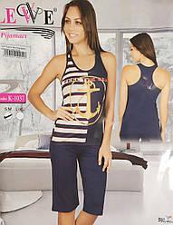 Комплект летний женской домашней одежды, (борцовка+бриджи),Lewe  (размер S-M)