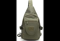 Тактическая,городская сумочка через плечо олива