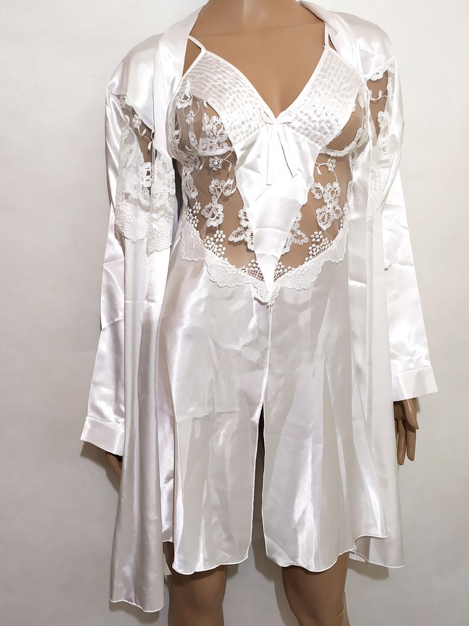 Комплект женской домашней одежды,  (халат+ночная рубашка тонкая бретель)  ANGEL Story