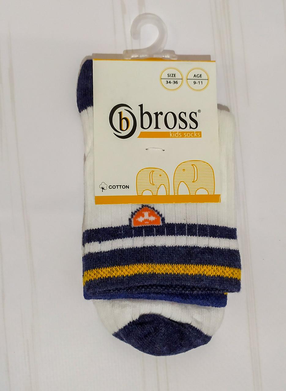 Носки для мальчика высокие демисезонные с рисунком Bross