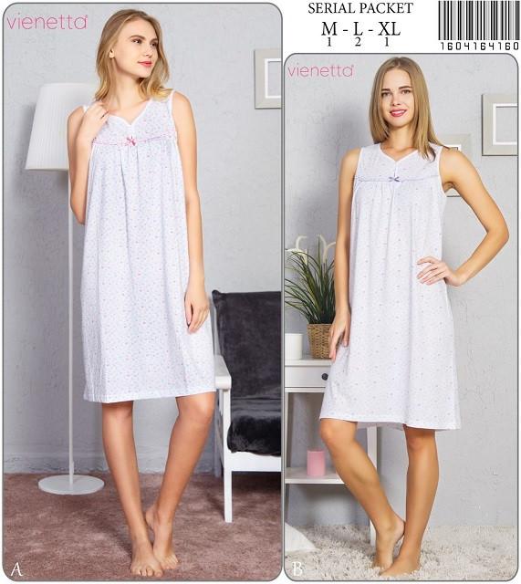 Нічна сорочка жіноча короткий рукав х/б VS