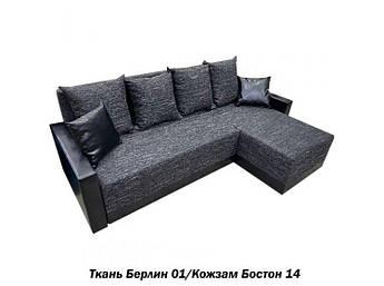Угловой диван Эко 2(Берлин 01/Бостон 14)