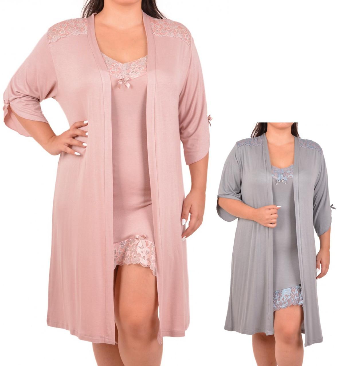 Комплект женский (футболка короткий рукав+штаны),  вискоза, оптом  ПАК/3 шт  2ХL-4ХL, Nicoletta