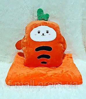 Плед мягкая игрушка 3 в 1  Морковка  (34)