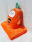 Плед мягкая игрушка 3 в 1  Морковка  (34), фото 3