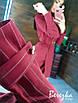 Платье - пиджак в полоску на запах с поясом и длинным рукавом 66ty988Q, фото 5