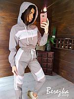 Светоотражающий женский спортивный костюм с вставками 66rt878Q