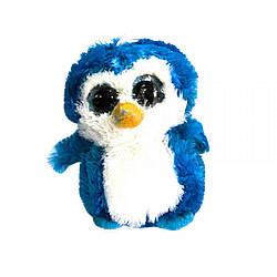 """Мягкая игрушка """"Глазастик: Пингвин"""" (черно-белый) Синий"""