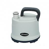 Дренажный насос для откачки воды из бассейна, мощный 3595 л./час Intex 28606 Серый