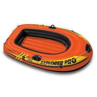 Лодка одноместная надувная компактная Intex Explorer Pro 100 58355 Orange/Black