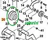 Шкив ремня переднего хода культиватора VIKING VH 660