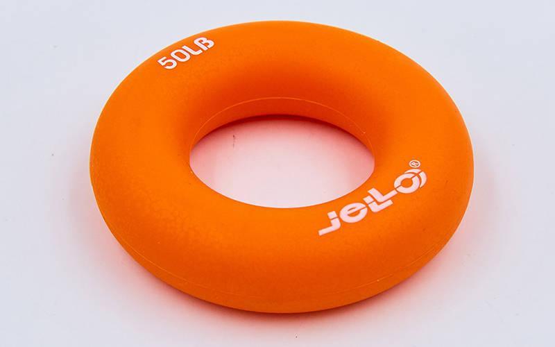 Эспандер кистевой Кольцо JLA473-50LB (TPR, d-7см, нагрузка 50LB (22,5кг), оранжевый)