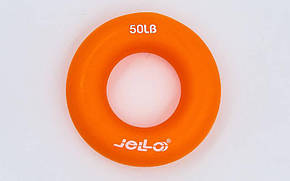 Эспандер кистевой Кольцо JLA473-50LB (TPR, d-7см, нагрузка 50LB (22,5кг), оранжевый), фото 2