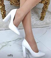 Туфлі жіночі класичні  білі, фото 1