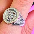 Серебряное мужское кольцо Якорь - Морское кольцо Якорь и Компас - Подарок моряку, фото 5