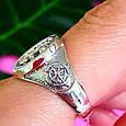 Серебряное мужское кольцо Якорь - Морское кольцо Якорь и Компас - Подарок моряку, фото 4