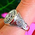Серебряное мужское кольцо Якорь - Морское кольцо Якорь и Компас - Подарок моряку, фото 3
