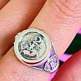 Серебряное мужское кольцо Якорь - Морское кольцо Якорь и Компас - Подарок моряку, фото 2