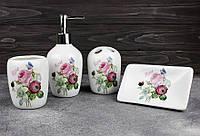 Набор аксессуаров 4 предмета для ванной Stenson R22344 Rose