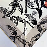 Палантин шелковый 10763-1, павлопосадский палантин шелковый (атласный), размер 65х200, фото 4