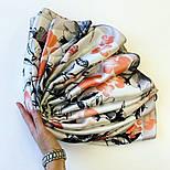 Палантин шелковый 10763-1, павлопосадский палантин шелковый (атласный), размер 65х200, фото 9