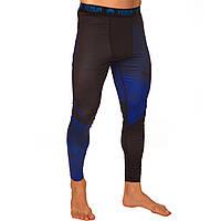 Штаны мужские компрессионные Venum размер M-2XL 165-185cм Черный-синий 2XL 180-185 PZ-8236_8