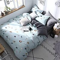 """Комплект постельного белья """"Домашние коты"""" (двуспальный-евро)"""