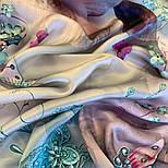 Палантин шелковый 10797-11, павлопосадский палантин шелковый (атласный), размер 65х200, фото 5