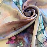 Палантин шелковый 10797-11, павлопосадский палантин шелковый (атласный), размер 65х200, фото 8