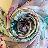 Палантин шелковый 10797-11, павлопосадский палантин шелковый (атласный), размер 65х200, фото 6