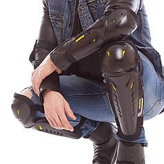 Комплект мотозащиты (колено, голень + предплечье, локоть) 4шт (пластик, PL, черный) PZ-MS-08