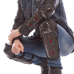 Комплект мотозащиты (колено, голень + предплечье, локоть) 4шт TAO TRAIL (пластик, PL, черный) PZ-MS-1232