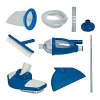 Универсальный набор для чистки бассейна с пылесосом для подключения к насосу Intex 28003 Белый/Синий