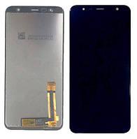 Дисплей (модуль) для Samsung SM-J415F Galaxy J4+ 2018, J610F Galaxy J6+ (2018) Черный (Сервисный модуль)