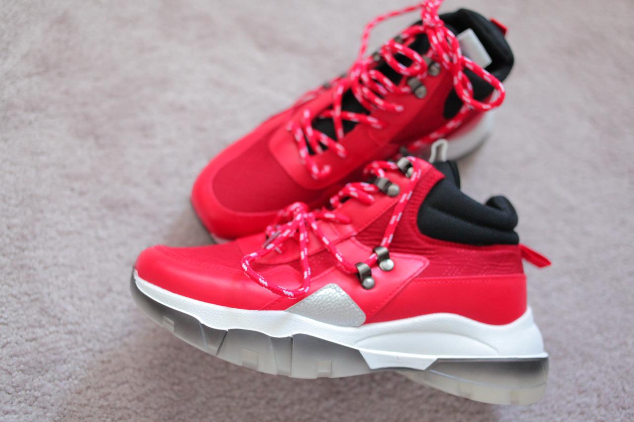 Женские ботинки кроссовки красные трекинговые спортивные 38-41