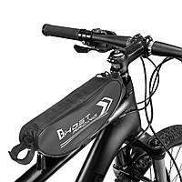Сумка на руль мотоцикла, велосипеда DHOST (PL, р-р 32x8x7см, черный)