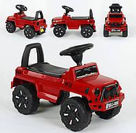 Машина-Толокар JOY цвет Красный, русское озвучивание, Световые эфекты, багажник, в коробке