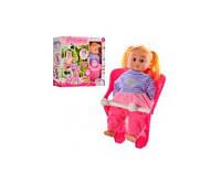 Кукла 86891  мягконабивная,34см,кресло,сумка, уточка,посуда,10в1,в кор-ке,40,5-39,5-13см(86891)