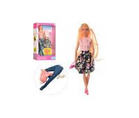 Кукла с нарядом DEFA 8383-BF обувь, 2вида в кор-ке, 21-32-6,5см(DEFA 8383-BF)
